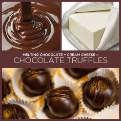 Melting Chocolate + Cream Cheese = Chocolate Truffles | 34 Insanely Simple Two-Ingredient Recipes