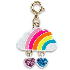 Be a rainbow in someone else's cloud and brighten up every day with this Gold Rainbow Cloud charm! Add this charm to any CHARM IT! bracelet or necklace and customize her collection! features & materials Enamel, Base Metal, Glitter WARNING: Choking Hazard - Small parts. Not for children under 3 years. Flamingo Necklace, Princess Kitty, Flavored Lip Gloss, Rainbow Cloud, Bead Kits, Cute Charms, Pink Aesthetic, Diy Crafts For Girls, Beaded Necklace