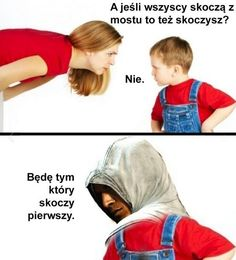 Nie śmieszne ale co tam Very Funny Memes, Wtf Funny, Assassins Creed Funny, Polish Memes, Weekend Humor, Funny Mems, Reaction Pictures, Best Memes, Funny Images