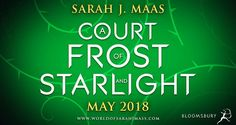 ACOTAR novella title revealed!  A Court of Frost and Starlight coming out May 2018