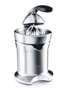 This Breville Die-Cast Stainless Steel Motorized Citrus Press Juicer is a wonderfully functional and excellently designed. It has a die-cast stainless steel juicing cone that will fit all size citrus Best Juicer, Citrus Juicer, Specialty Appliances, Small Appliances, Kitchen Appliances, Kitchens, Cafe Restaurant, Kitchen Tools, Kitchen Gadgets