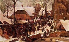 Поклонение царей на снегу — Питер Брейгель Старший