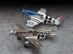 Hasegawa 1:72 North American P-51 Plastic Model Airplane Kit HS02054 This North American P-51 B Mustang D-Day Marking Combo Plastic Model Airplane Kit comprises 102 pieces. This model kit made by Hasegawa requires assembly and is 1:72 scale (approx. 15cm / 5.9in wingspan).