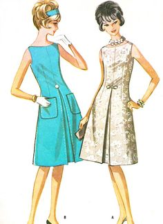 1960s Dress Pattern McCalls 6725 Mod Sleeveless Day by paneenjerez, $14.00