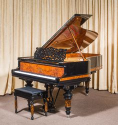 Antique Steinway & Sons Model B Victorian Concert Grand Piano Piano Shop, Pump Organ, Victorian Design, Grand Piano, House Inside, Piano Music, Concert, Musical Instruments, Piano Restoration