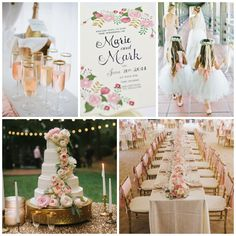 What is your dream wedding color scheme? Ask us how we can customize our invitation designs to match! Here is a gorgeous gold and pink example...