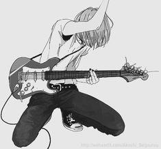 Afbeeldingsresultaat voor manga boy with guitar
