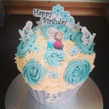 Giant Frozen cupcake. ❄️⛄️
