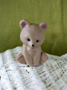 Porcelain Teddy Bear Thimble  Vintage by nitebyrd on Etsy, $6.00