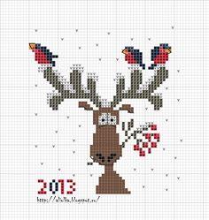 Il mio tvorilki: Bullfinches venuto :)) Incontra!, Moose with Birds on Antlers
