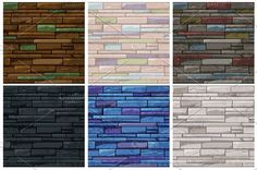 Old Wall, Seamless Textures, Game Design, Brick, Stone, Wallpaper, Illustration, Vintage, Color