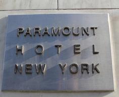Paramount Hotel. New York. <3