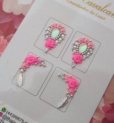 Nails Design With Rhinestones, Gem Nails, Made Video, Nail Artist, Ale, Manicure, Projects To Try, Nail Designs, Sparkle