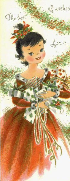 Vintage christmas girl 42 Ideas for 2019 Old Christmas, Old Fashioned Christmas, Victorian Christmas, Retro Christmas, Vintage Christmas Cards, Vintage Holiday, Christmas Greeting Cards, Christmas Pictures, Christmas Greetings