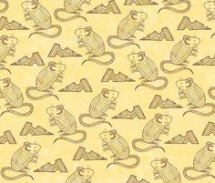 Mice and Nibbles fabric by pollyannahandmade on Spoonflower - custom fabric