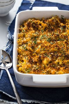 Roasted Cauliflower Chickpea Mac and Cheese will surprise and delight your table of adventurous eaters. With a bit of spice and a whole lot of flavor, this is a weeknight dinner that you'll have ready in 30 minutes.