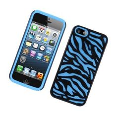 MetroPhones.co PHIPHONE5BLBK2 Hybrid Protective Gummy TPU Case for iPhone 5 - Retail Packaging - Blue/Black: Cell Phones & Accessori...