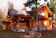 View exterior gallery of log cabin homes and kits by The Original Log Cabin Homes.