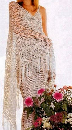 Crochet Shawl Pattern - Diamond Stitch