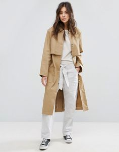 Buy it now. YMC Classic Trench Coat - Brown. Coat by YMC, Smooth woven fabric, Point collar, Button placket, Storm flap, Functional pockets, Regular fit - true to size, Machine wash, 100% Cotton, Our model wears a UK 8/EU 36/US 4 and is 173 cm/5'8 tall. ABOUT YMC Channelling an intelligent approach to design, London based label YMC create functional, stylish clothing, inspired by longevity not trends. Founded in 1995 by designers Fraser Moss and Jimmy Collins, YMC stands for You Must Create…