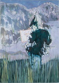 Peter Doig - Figure in a Mountain Landscape (I Love You Big Dummie) - 1999