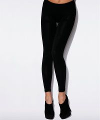 Charnos Plush Lined Black Leggings | Tissue Wrapped - Poshtights.com - Winter Wear £9.00