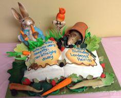 Peter rabbit cake everything was edible