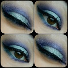Blue and lilac  Brown eyes,  Blue , turquoise ,  lilac , fresh eye makeup Make up by Piia Jääskeläinen