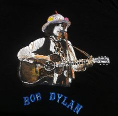Bob Dylan T-shirt Rolling Thunder Revue Tシャツ Painting 3D