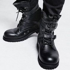 Triple Strap Tactical Boots #HardcoreBoots #Edgy and Right Down Rocking!
