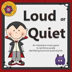 Working on recognizing dynamics (loud and quiet sounds) with your elementary music students? They will love watching Dracula dance when they listen to a sound and then select the correct answer in this interactive game! Be ready for the giggles if they select the wrong answer. Excellent Orff and Kodaly resource.