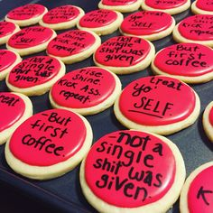 Www.facebook.com/cocossugarshack decorated cookies quote cookies