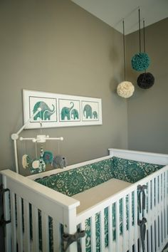 Don't limit yourself to pinks and blues for your nursery. #NurseryInspiration