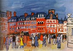 Houses in Trouville  - Raoul Dufy