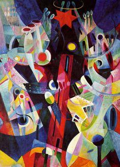 Johannes Itten: Cubist inspired Red Tower, 1918.