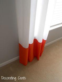 Decorating Cents: Color Block Curtains