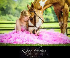 Pretty Horse Prom Dress Senior PIctures, K Jay Photos Photography, Madison WI Photographer www.kjayportraits.com