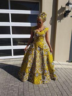 50 traditional shweshwe dresses 2018 new African Dresses For Women, African Print Dresses, African Print Fashion, Africa Fashion, African Attire, African Wear, African Fashion Dresses, African Women, African Prints
