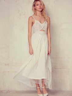Martha Hunt    FP Gianna's Sonnet Dress (Ivory)