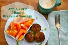 Apple Leek & Bacon Breakfast Sausage Quick, easy, and freezes beautifully. #paleo