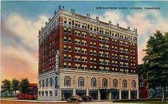 Jackson Tennessee TN 1940s New Southern Hotel Antique Vintage Postcard Jackson Tennessee TN 1940s New Southern Hotel. Unused Colourpicture antique vintage advertising postcard in excellent condition.