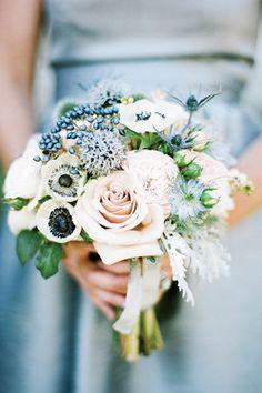 dusty blue wedding bridal bouquet brides of adelaide magazine