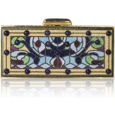 Judith Leiber Couture Harmonia Coffered Crystal Rectangle Clutch Bag (144 765 UAH) ❤ liked on Polyvore featuring bags, handbags, clutches, champagne multi, handbags clutches, crystal handbags, handbag purse, beaded hand bags, judith leiber and man bag