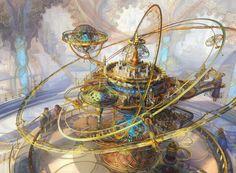 Magic The Gathering Ghirapur Orrery, Kirsten Zirngibl on ArtStation at https://www.artstation.com/artwork/y6Dl3