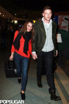Glee love lands in NYC   Lea Michele & Corey Monteith