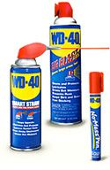 WD-40   •Removes paint from tile flooring (be sure to wipe floor clean after using)   •Removes permanent ink from most items