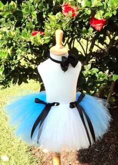 Alice tutu. Made mine with lighter blue & didn't tie black ribbon in front. Came out cute. Cost $12
