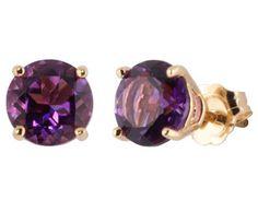 ø Gold Amethyst Earrings Amethyst Jewelry, Amethyst Earrings, Gold Earrings, Jewelry Art, Gold Jewelry, Fashion Jewelry, Jewellery, Birthstone List, Making Ideas