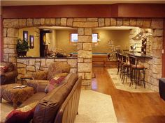 Hand carved vertical concrete wall for an Old World look.  Vertical Artisans LLC Hickory Hills, IL