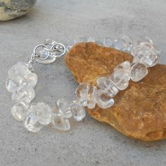 Rock Crystal  & Sterling Silver Bracelet (49) £23.00